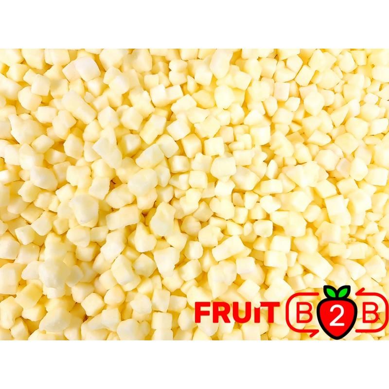 maçã Dices 10 x 10 Idared dices - IQF Fruta congelada - FRUIT B2B