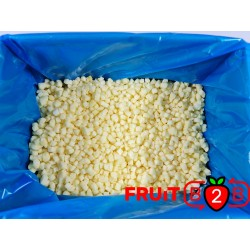 Apfel Dices 10 x 10 Golden dices - IQF Gefrorene Früchte - FRUIT B2B