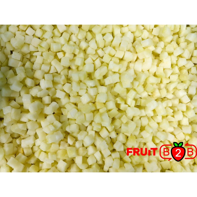 Apple Dices 10 x 10 Pear Dices - IQF Frozen Fruit - FRUIT B2B