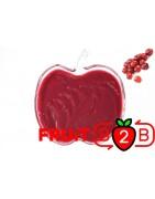 酸果蔓 果泥 - 果泥果粒 & 烘焙原料批发  果果粒水果泥 & 德鲁颗粒果酱烘焙饮品水果泥果粒原料批发 - Fruit B2B