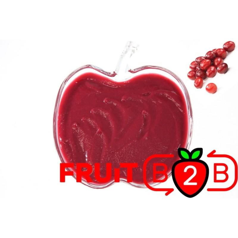 クランベリーピューレ- 無菌ピューレフルーツピューレ & フルーツ& ピュレフルーツ & フルーツピューレ& ジャムやソースの加工に最適!フルーツピューレ- Fruit B2B