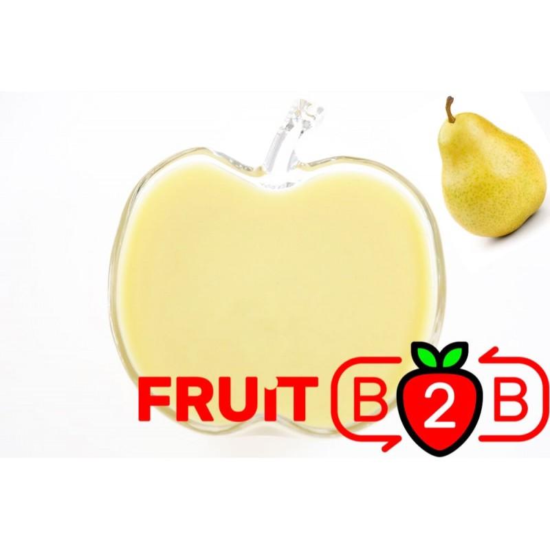 梨 果泥 - 果泥果粒 & 烘焙原料批发  果果粒水果泥 & 德鲁颗粒果酱烘焙饮品水果泥果粒原料批发 - Fruit B2B