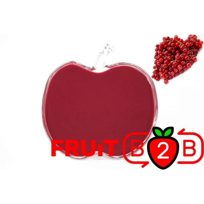 红醋栗 果泥 - 果泥果粒 & 烘焙原料批发  果果粒水果泥 & 德鲁颗粒果酱烘焙饮品水果泥果粒原料批发 - Fruit B2B