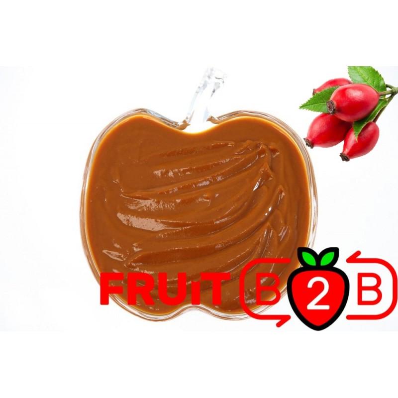 玫瑰果 果泥 - 果泥果粒 & 烘焙原料批发  果果粒水果泥 & 德鲁颗粒果酱烘焙饮品水果泥果粒原料批发 - Fruit B2B